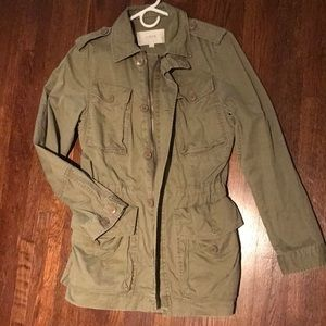 JCrew Army Green Trench coat